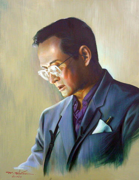 Wall Art - Painting - The King Of Thailand by Chonkhet Phanwichien
