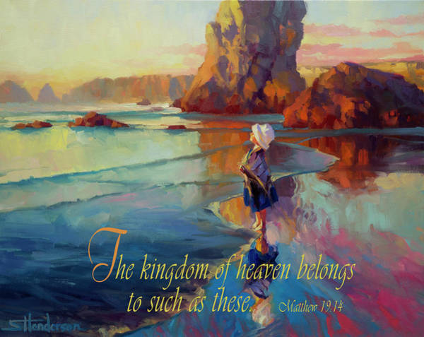 Christian Wall Art - Digital Art - The Kingdom Belongs To These by Steve Henderson