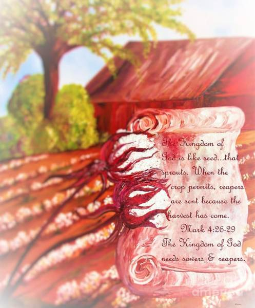 Scriptural Painting - The Kingdom Of God by Eloise Schneider Mote