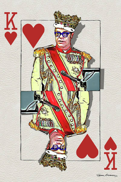 Regal Digital Art - The Kings - Elton John by Serge Averbukh