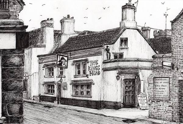 House Drawing - The Kings Head by Vincent Alexander Booth