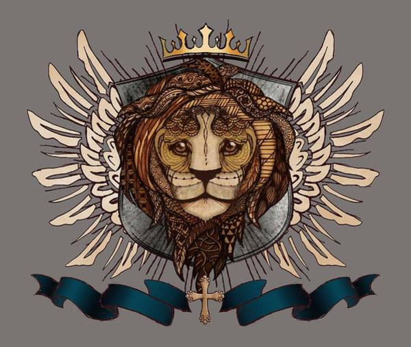 Wall Art - Digital Art - The King's Heraldry II by April Moen