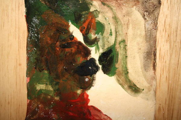 Ceramic Art - the Kiss 10 - tile by Gloria Ssali