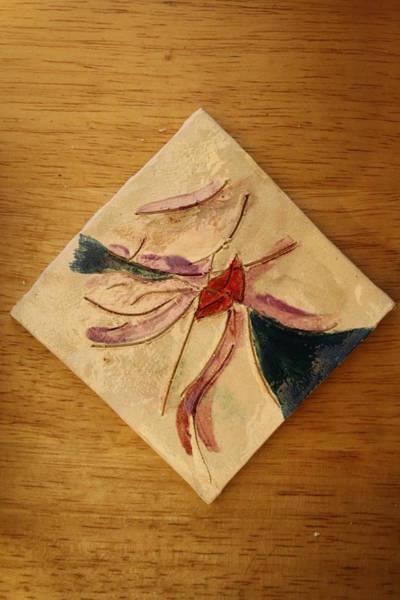 Ceramic Art - The Kiss 5 -  Tile by Gloria Ssali