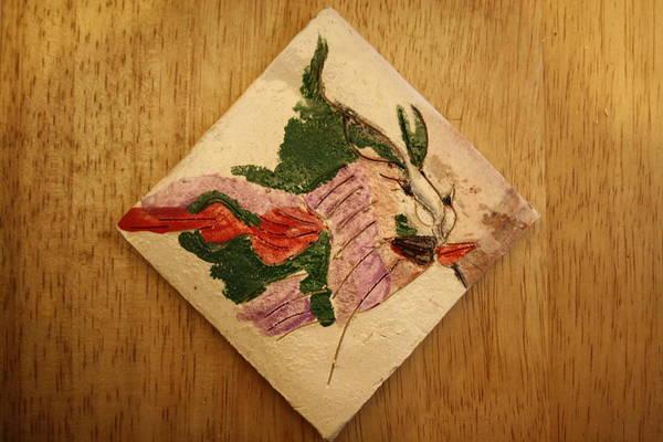 Ceramic Art - The Kiss 8 - Tile by Gloria Ssali