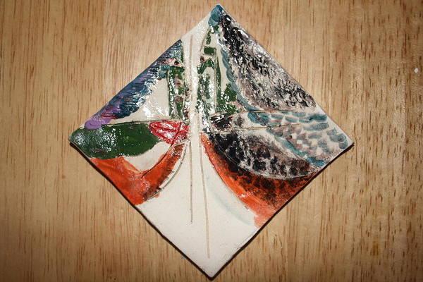 Ceramic Art - the Kiss 9 - tile by Gloria Ssali