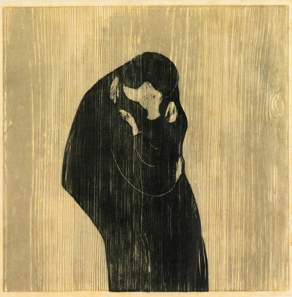 Drawing - The Kiss Iv by Edvard Munch