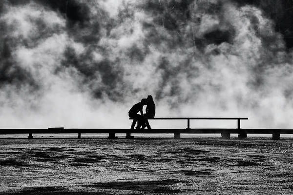 Wall Art - Photograph - The Kiss by Mark Kiver