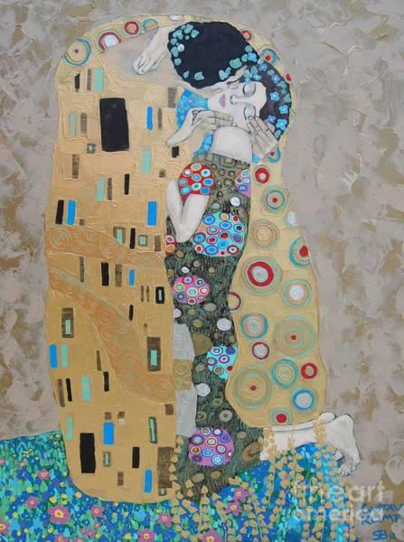Samantha Painting - The Kiss by Samantha Black