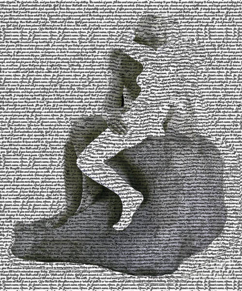 Digital Art - The Kiss Version 2 by Fei A