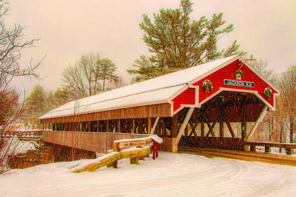 Photograph - The Kissing Bridge Of Jackson Nh by Brenda Jacobs