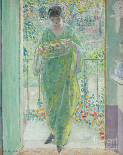 Fruit Stand Wall Art - Painting - The Kitchen Door by Frederick Carl Frieseke
