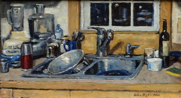 Umber Painting - The Kitchen Sink by Thor Wickstrom