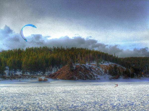 Photograph - The Kite Boarder by Wayne King