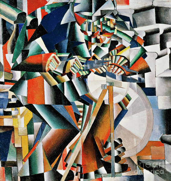 Wall Art - Painting - The Knifegrinder Principle Of Glittering by Kazimir Malevich