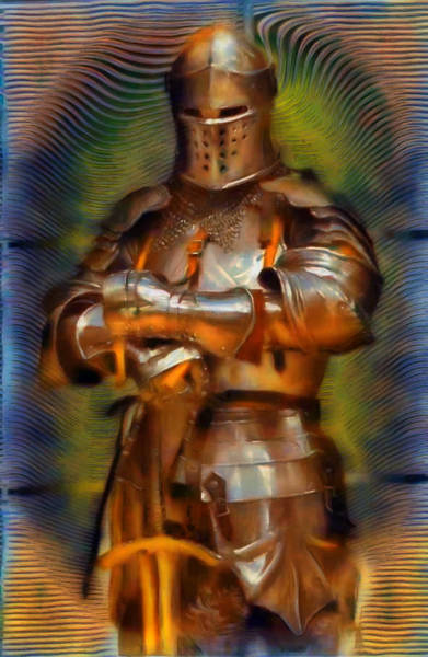 Fashion Plate Digital Art - The Knight In Shining Armor by Mario Carini