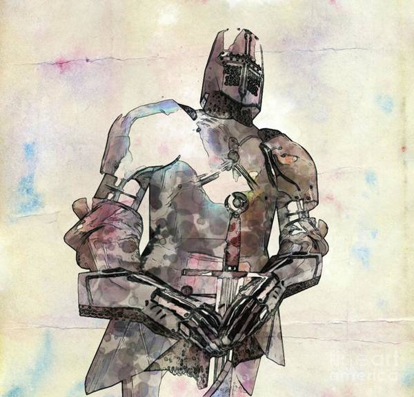 Wall Art - Painting - The Knight Pop Art By Mary Bassett by Mary Bassett