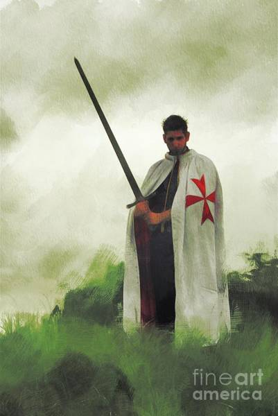Wall Art - Painting - The Knight Templar by Pierre Blanchard