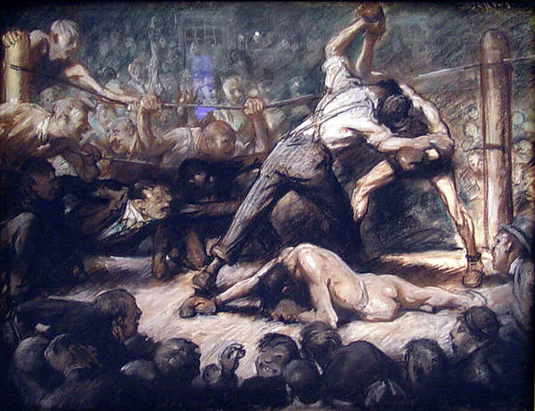 Painting - The Knockout by George Wesley Bellows