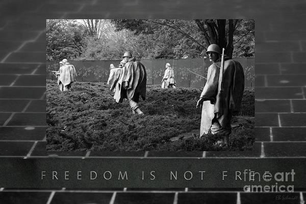 Photograph - The Korean War Memorial by E B Schmidt