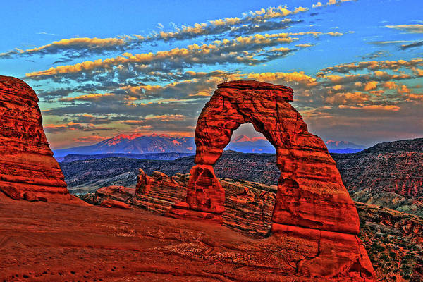 Wall Art - Photograph - The La Sal Mountains And Arch by Scott Mahon