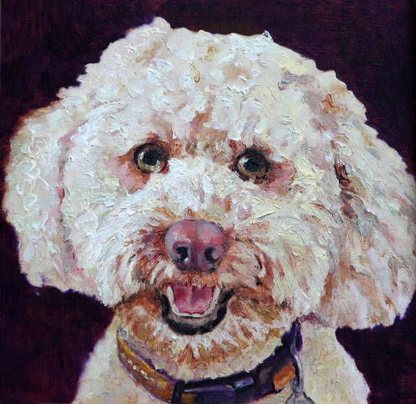 Wall Art - Painting - The Labradoodle by Portraits By NC