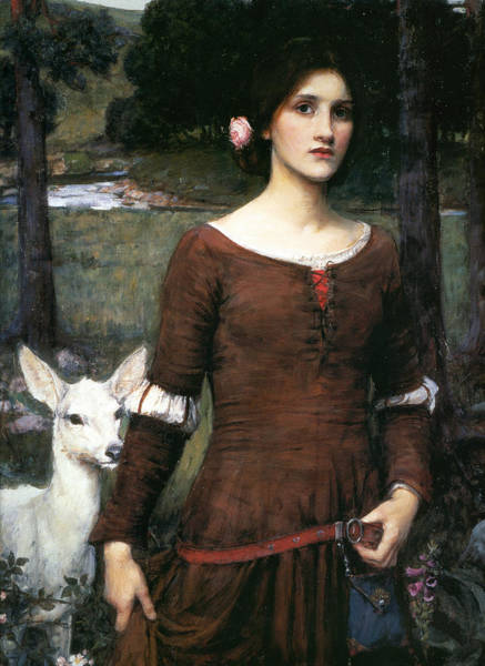 Pre-raphaelite Painting - The Lady Clare by John William Waterhouse