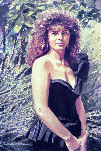 Painting - The Lady In Black by David Lloyd Glover
