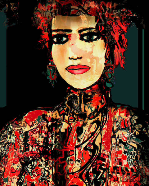 Clothing Design Mixed Media - The Lady In Red by Natalie Holland