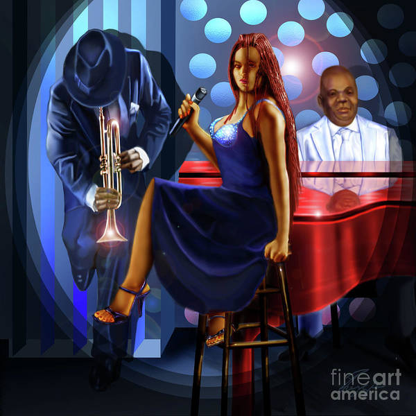 Painting - The Lady Jazz Singer by Reggie Duffie