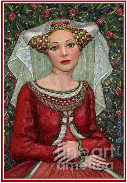 Wall Art - Painting - The Lady Mae   Bas Relief Miniature by Jane Bucci