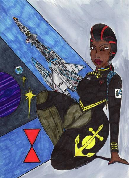 Space Station Mixed Media - The Lady Of 7th Fleet by Ronald Woods