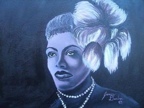 Wall Art - Painting - The Lady Of Jazz And Blues Billie Holiday by Dunbar's Modern Art