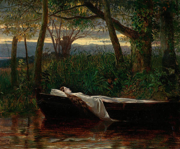 Wall Art - Painting - The Lady Of Shalott by Walter Crane