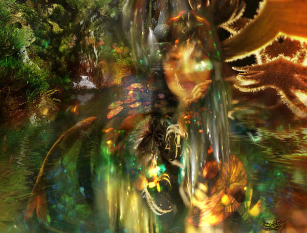 Digital Art - The Lady Of The Lake by Kenneth Hadlock
