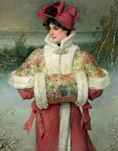 Embroidery Painting - The Lady Of The Snows by George Henry Boughton