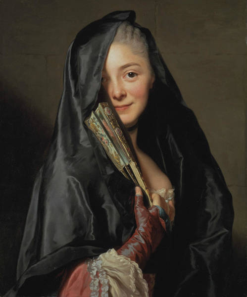Painting - The Lady With The Veil  by Alexander Roslin