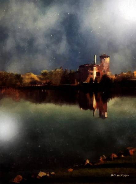 Painting - The Lake And The Sky by RC DeWinter