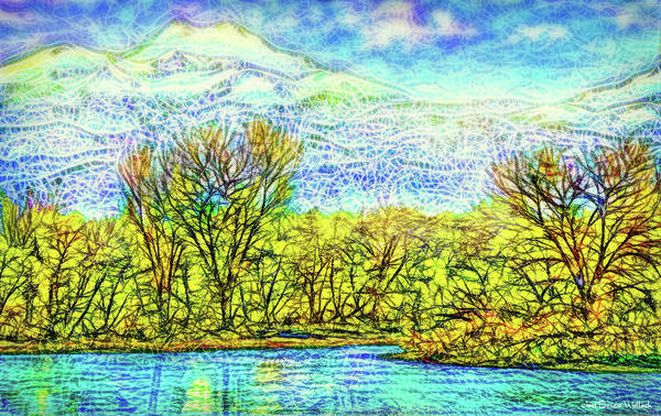 Digital Art - The Lake At Dusk - Boulder County Colorado by Joel Bruce Wallach