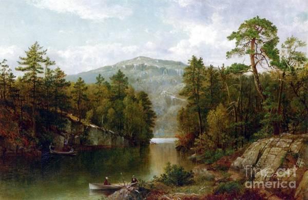 Wall Art - Painting - The Lake George by David Johnson