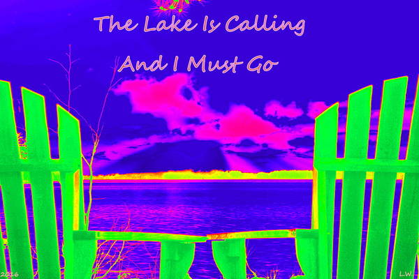 Wall Art - Photograph - The Lake Is Calling And I Must Go by Lisa Wooten
