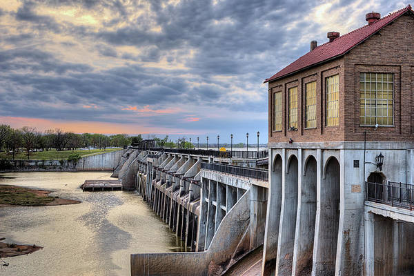 Wall Art - Photograph - The Lake Overholser Dam by JC Findley
