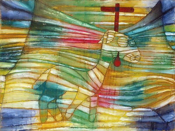 Lamb Of God Wall Art - Painting - The Lamb by Paul Klee