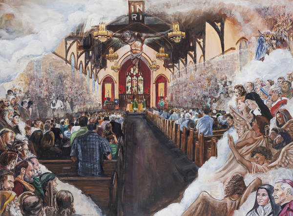 Padre Pio Wall Art - Painting - The Lamb's Supper by Bryan Bustard