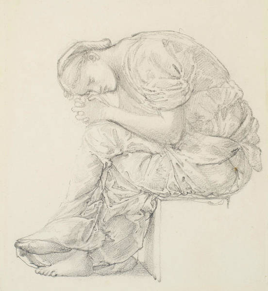 Drawing - The Lament by Edward Burne-Jones