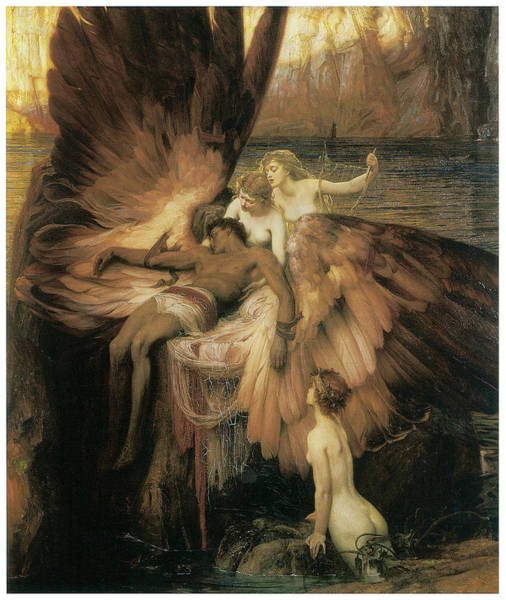 Herbert Draper Painting - The Lament For Icarus  by Herbert Draper