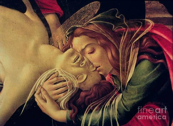 Sandro Botticelli Painting - The Lamentation Of Christ by Sandro Botticelli