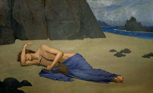 Tragedy Painting - The Lamentation Of Orpheus by Alexandre Seon