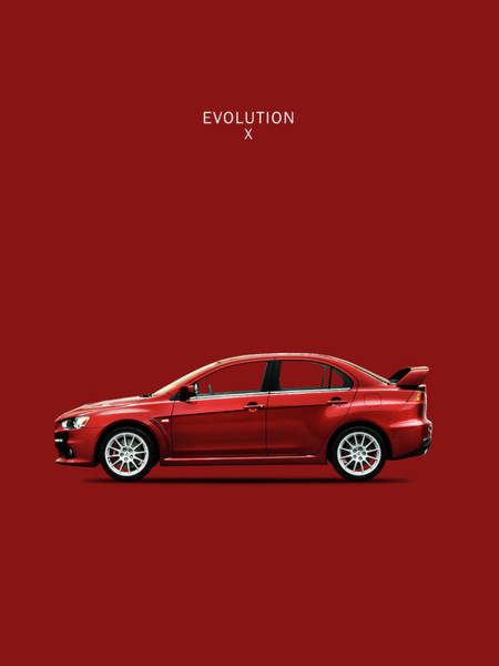 Evolution Wall Art - Photograph - The Lancer Evolution X by Mark Rogan