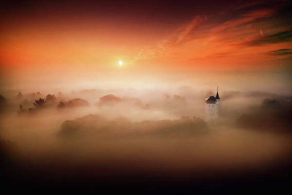 Drone Wall Art - Photograph - The Land Where Fairy Tales Still Exist by Martin Podt
